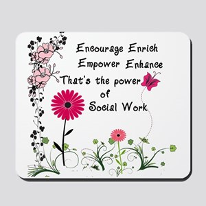 Power of Social Work Mousepad